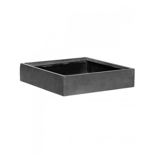Кашпо fiberstone jack grey s l40 w40 h9 см