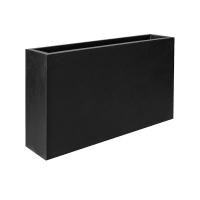 Кашпо fiberstone jort slim black s l91 w20 h50 см