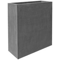 Кашпо fiberstone jort slim grey xl l91 w36 h102 см
