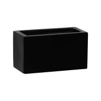 Кашпо fiberstone mini matt black jort xxs l20 w10 h10 см