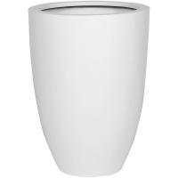 Кашпо fiberstone matt white ben xl d52 h72 см