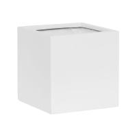 Кашпо fiberstone matt white fleur m l20 w20 h20 см
