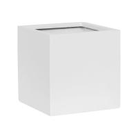 Кашпо fiberstone matt white fleur l l25 w25 h25 см