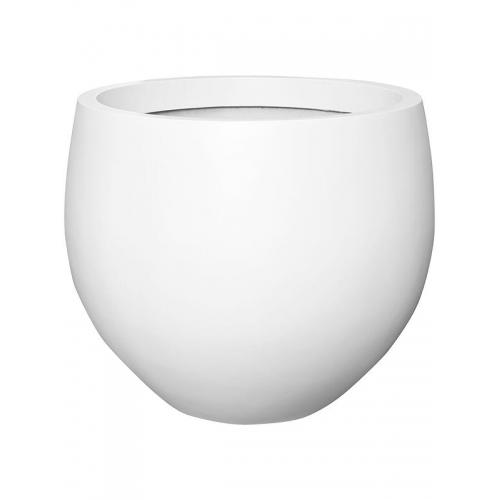 Кашпо fiberstone matt white jumbo orb l d133 h114 см