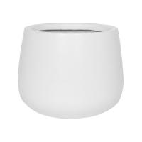 Кашпо fiberstone matt white kevan m d26 h22 см