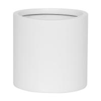 Кашпо fiberstone matt white puk s d15 h15 см
