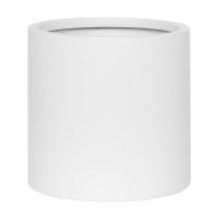Кашпо fiberstone matt white puk l d26 h25 см