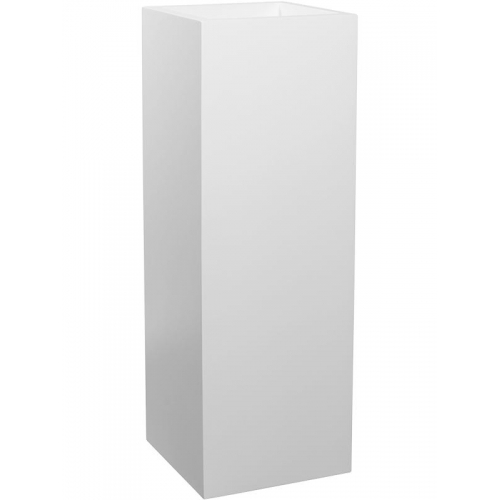 Кашпо fiberstone matt white yang l35 w35 h100 см