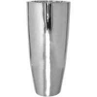 Кашпо fiberstone platinum silver dax l d37 h80 см