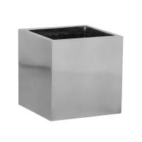 Кашпо fiberstone platinum silver fleur s l15 w15 h15 см