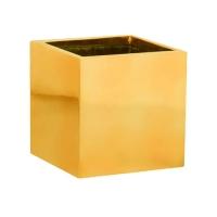Кашпо fiberstone platinum glossy gold fleur s l15 w15 h15 см