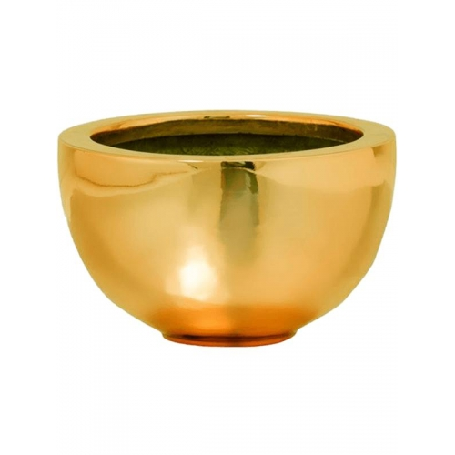 Кашпо fiberstone platinum glossy gold peter s d20 h12 см