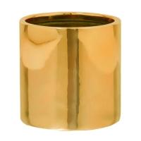 Кашпо fiberstone platinum glossy gold puk s d15 h15 см