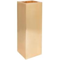 Кашпо fiberstone platinum glossy gold yang l35 w35 h100 см