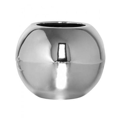 Кашпо fiberstone platinum silver beth xs d26 h21 см