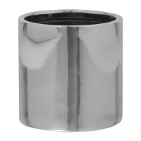 Кашпо fiberstone platinum silver puk s d15 h15 см