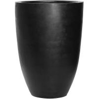 Кашпо fiberstone ben black xl d52 h72 см