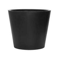 Кашпо fiberstone bucket black l d70 h60 см