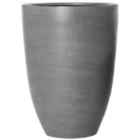 Кашпо fiberstone ben grey l d40 h55 см