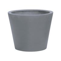 Кашпо fiberstone bucket grey xs d40 h35 см