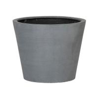 Кашпо fiberstone bucket grey s d50 h40 см