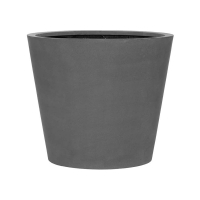 Кашпо fiberstone bucket grey l d70 h60 см