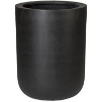 Кашпо fiberstone dice black xl d46 h60 см