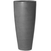 Кашпо fiberstone dax grey l d37 h80 см