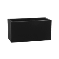 Кашпо fiberstone balcony black xs l40 w20 h20 см