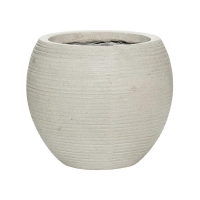 Кашпо fiberstone ridged cement abby s horizontal d23 h20 см