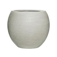 Кашпо fiberstone ridged cement abby l horizontal d52 h45 см