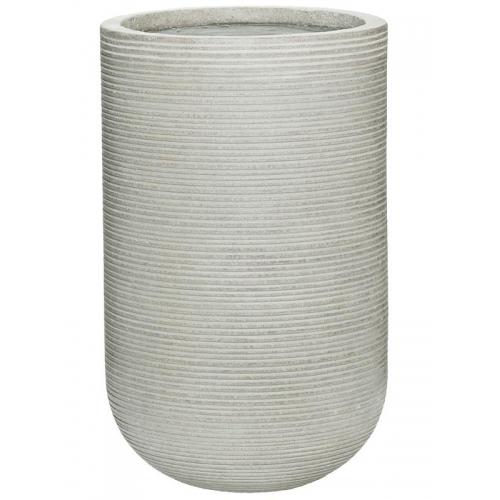 Кашпо fiberstone ridged cement cody s horizontal d28 h45 см