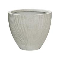 Кашпо fiberstone ridged cement jesslyn xs d42 h35 см
