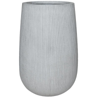 Кашпо fiberstone ridged cement patt high s d29 h43 см