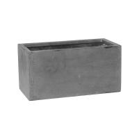 Кашпо fiberstone balcony grey xs l40 w20 h20 см