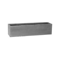 Кашпо fiberstone balcony grey xl l80 w20 h20 см
