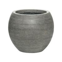 Кашпо fiberstone ridged dark grey abby s horizontal d23 h20 см