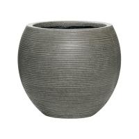 Кашпо fiberstone ridged dark grey abby m horizontal d35 h30 см