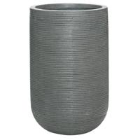 Кашпо fiberstone ridged dark grey cody s horizontal d28 h45 см