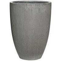 Кашпо fiberstone ridged dark grey ben l d40 h55 см