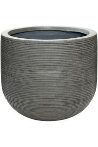 Кашпо fiberstone ridged dark grey cody m horizontal d35 h31 см