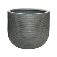 Кашпо fiberstone ridged dark grey cody l horizontal d42 h37 см