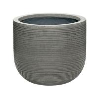 Кашпо fiberstone ridged dark grey cody s horizontal d28 h25 см