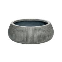 Кашпо fiberstone ridged dark grey eileen xl d36 h14 см