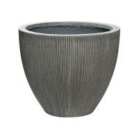 Кашпо fiberstone ridged dark grey jesslyn s d51 h43 см