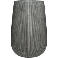 Кашпо fiberstone ridged dark grey patt high m d44 h66 см