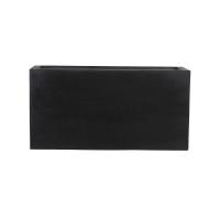 Кашпо fiberstone jort black s l80 w30 h40 см