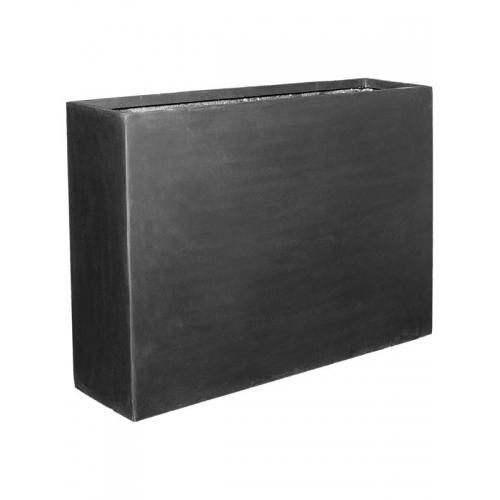 Кашпо fiberstone jort black slim l124 w33 h90 см
