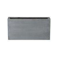 Кашпо fiberstone jort grey s l80 w30 h40 см