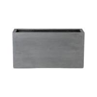 Кашпо fiberstone jort grey l100 w40 h50 см